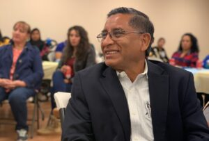 Close up of Carlos Castro at a LIBRE Hispanic Heritage Month event