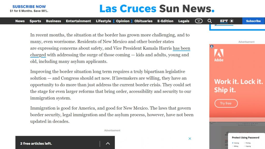 New Mexico can't afford congressional inaction on the border