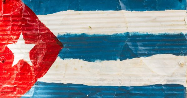 An artistic rendering of the Cuban flag