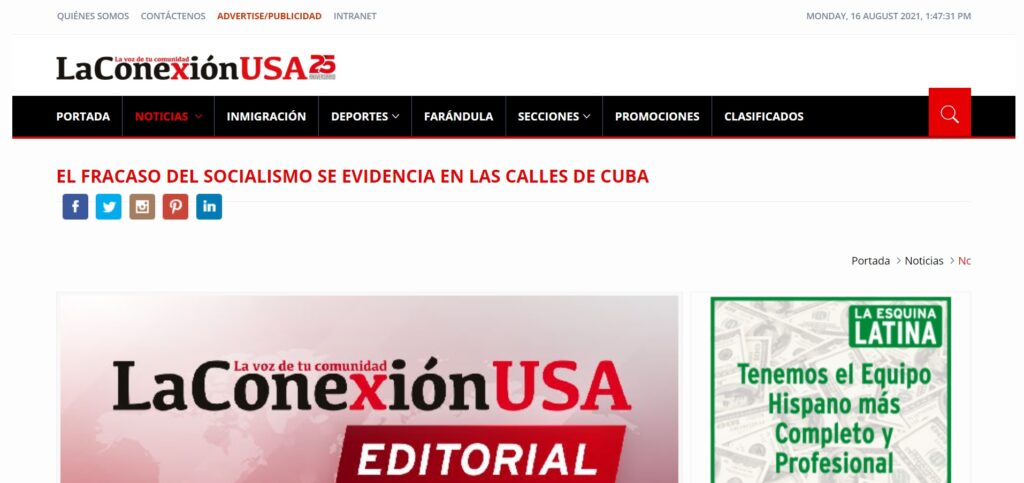 Click here to read Richard Benthancourt's op-ed on Cuban freedom in LaConexionUSA